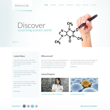 Science Facebook HTML CMS Template