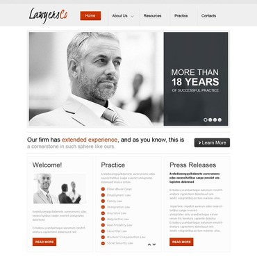 Lawyer Facebook HTML CMS Template