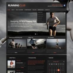 Running Website Template
