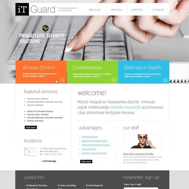 Information Security Flash CMS Template