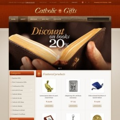 Catholic Church OpenCart Template