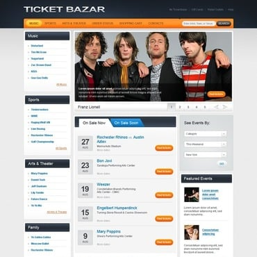 Tickets Website Flash CMS Template