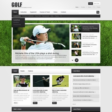 Golf PSD Template