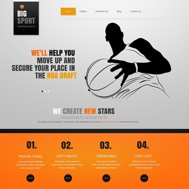 Basketball Joomla Template