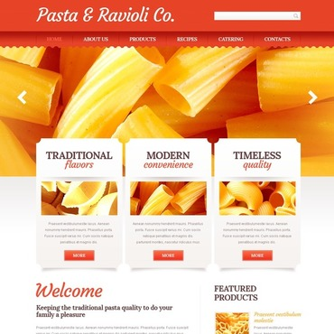 Food & Drink Website Template