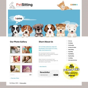Pet Sitting Flash CMS Template