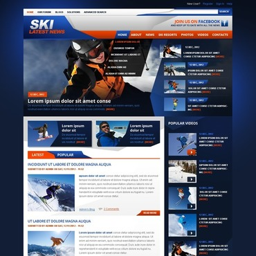 Skiing Drupal Template