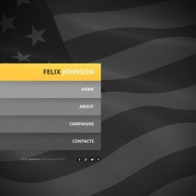 Political Candidate Website Template
