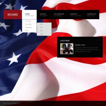 Politics Website Template