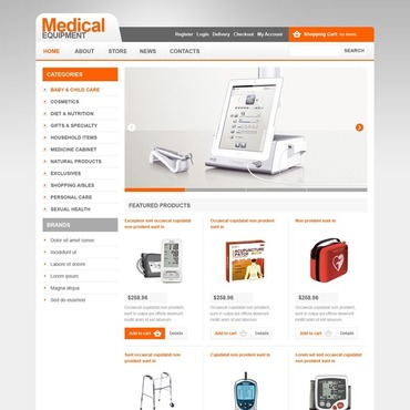 Medical Equipment Responsive Jigoshop Theme