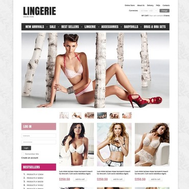 Lingerie VirtueMart Template