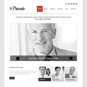Cherry Law Firm WordPress Theme #43776
