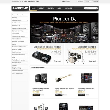 Music Store VirtueMart Template