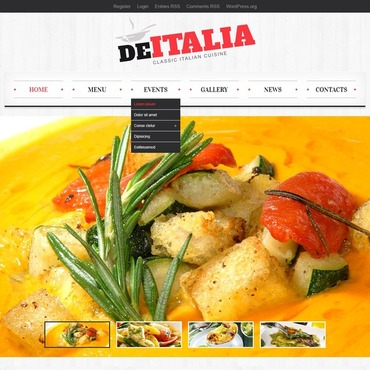 Italian Restaurant Responsive WordPress Theme