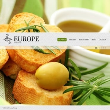 European Restaurant Flash CMS Template