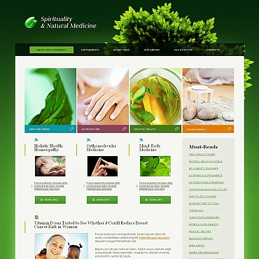 Herbal Moto CMS HTML Template