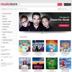 Music Store Responsive Magento Theme