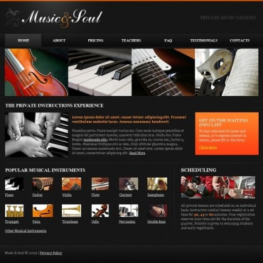 Music Flash CMS Template