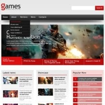 Games Responsive Website Template