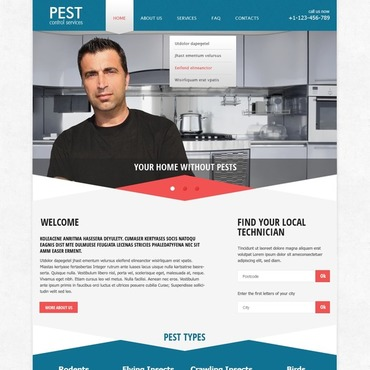 Pest Control Responsive Website Template