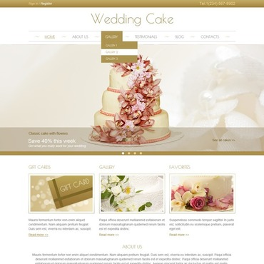 Wedding Cake Responsive Joomla Template