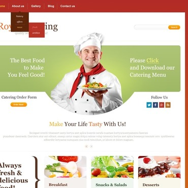 Catering Responsive Website Template