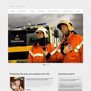 Fire Department Moto CMS HTML Template
