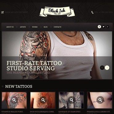 tattoo salon website templates. Black Bedroom Furniture Sets. Home Design Ideas