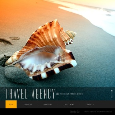 Travel Agency Flash CMS Template