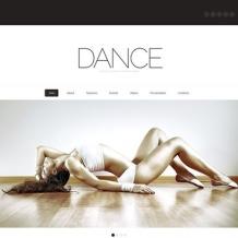 Dance Studio Flash CMS Template