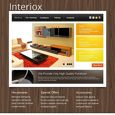 Interior & Furniture Moto CMS HTML Template