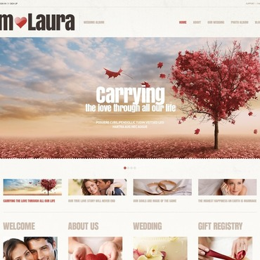 Wedding Album Responsive WordPress Theme