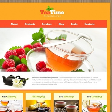 Tea Shop WordPress Theme