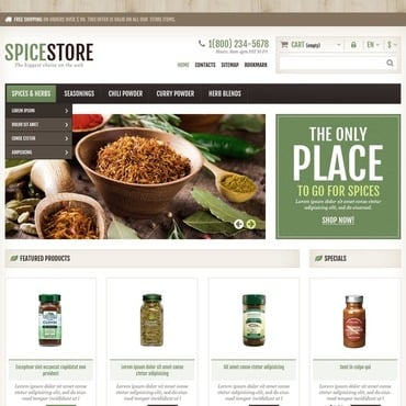 Spice Shop Responsive PrestaShop Theme