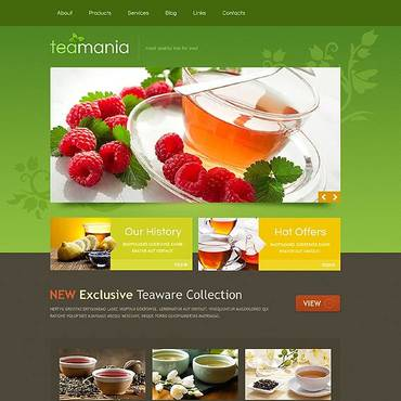 Tea Shop Responsive Website Template