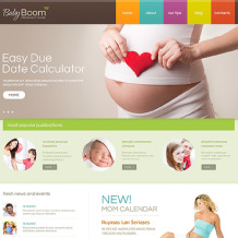 Pregnancy Responsive Website Template