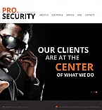 Security Facebook HTML CMS Template