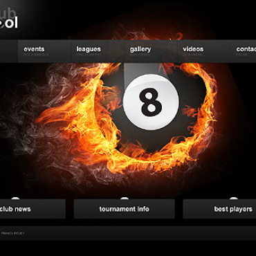 Billiards Website Template