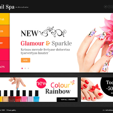 Nail Salon Website Template
