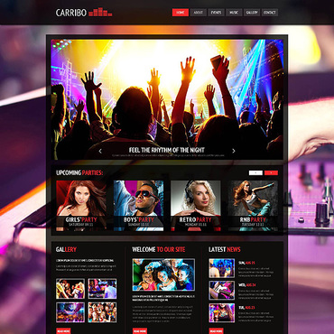Night Club Joomla Template #45332