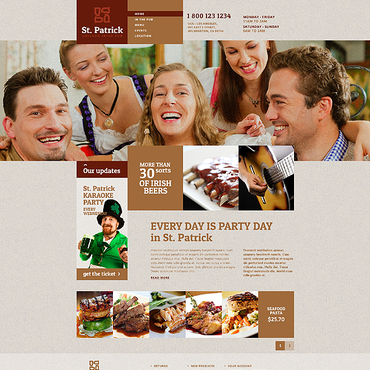Pub Responsive Website Template