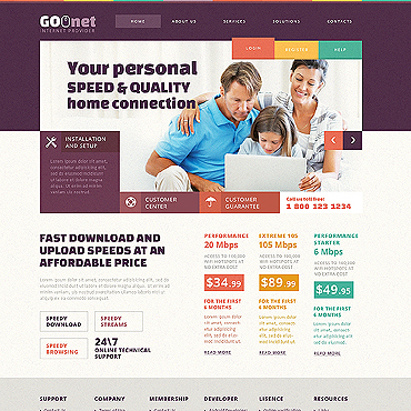 Internet Responsive Website Template