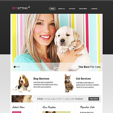 Pet Sitting Moto CMS HTML Template