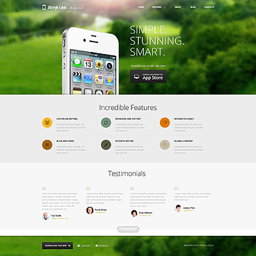 Software Company Responsive WordPress Theme