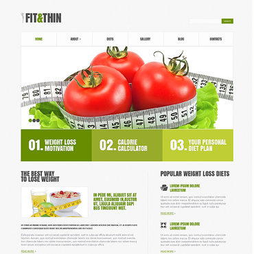 Weight Loss Responsive WordPress Theme