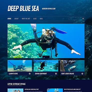 Diving Responsive WordPress Theme #45576