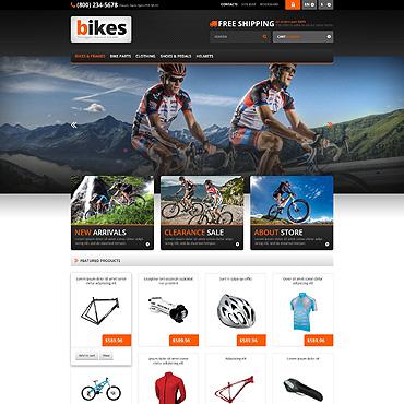 Responsive Bikes Store PrestaShop Theme #45584