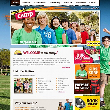 Summer Camp Moto CMS HTML Template