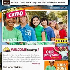 Summer Camp Facebook HTML CMS Template