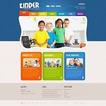 Kids Center Flash CMS Template